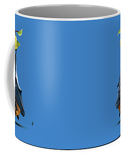 Coffee Mug featuring the drawing Peared Colour by Rob Snow