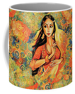 Coffee Mug featuring the painting Flame by Eva Campbell
