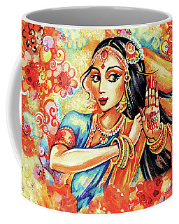 Coffee Mug featuring the painting Sun Ray Dance by Eva Campbell
