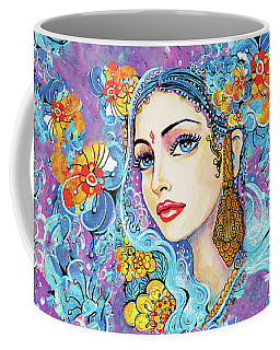 Coffee Mug featuring the painting The Veil Of Aish by Eva Campbell