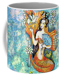 Coffee Mug featuring the painting A Letter From Far Away by Eva Campbell