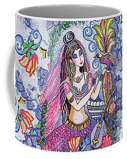Coffee Mug featuring the painting Scheherazade's Bird by Eva Campbell
