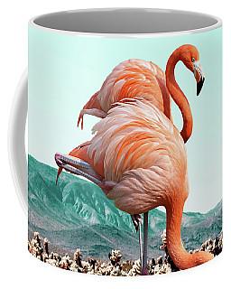 Flamingos In The Desert Coffee Mug
