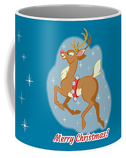 Charming Retro Reindeer Coffee Mug