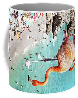 Flamingos On The Beach Coffee Mug