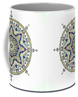 Blue Tile Star Mandala Coffee Mug