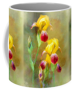 Bearded Iris Pair Coffee Mug