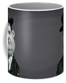 Celebrity Sunday - Oliver Hardy Coffee Mug by Rob Snow