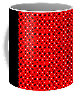 Pawprints And Bones Pattern Coffee Mug