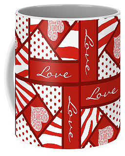 Valentine 4 Square Quilt Block Coffee Mug