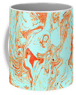 Flamingo And Sea Marble Coffee Mug