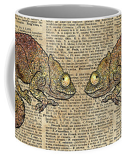 Space Chameleon Zentagle Dictionary Art Coffee Mug
