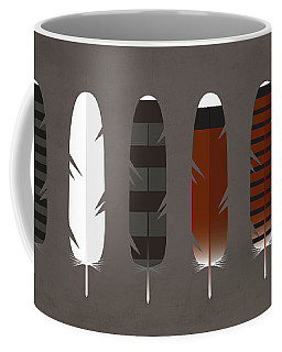 Raptor Feathers - Square Coffee Mug