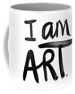 I Am Art Black Ink - Art By Linda Woods Coffee Mug