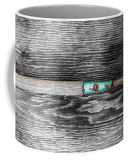 Coffee Mug featuring the photograph Tools On Wood 5 On Bw by YoPedro
