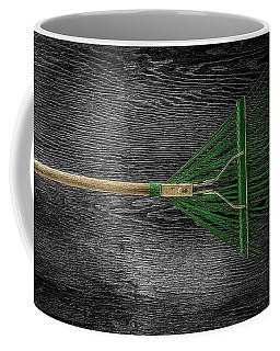 Coffee Mug featuring the photograph Tools On Wood 10 On Bw by YoPedro