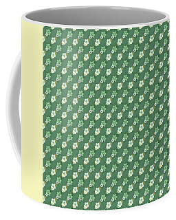 Old Fashioned Green Flowers Coffee Mug