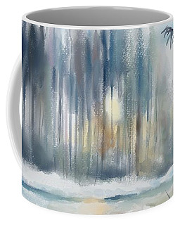 Coffee Mug featuring the digital art Snow From Yesterday by Ivana Westin