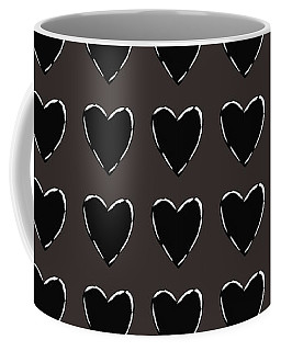 Black And White Hearts 1- Art By Linda Woods Coffee Mug