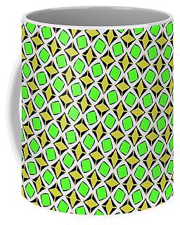 Green And Yellow Diamond Pattern Coffee Mug