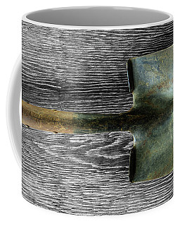 Coffee Mug featuring the photograph Tools On Wood 15 On Bw by YoPedro