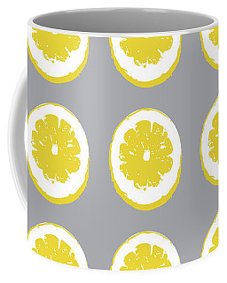 Lemon Slices On Grey- Art By Linda Woods Coffee Mug