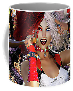 Coffee Mug featuring the digital art It Wasn't Me by Shanina Conway