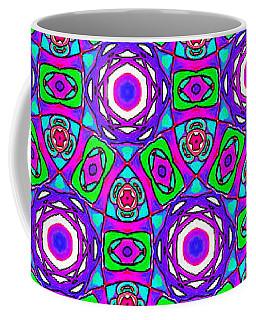 Purple Watercolor Mandala Pattern Coffee Mug