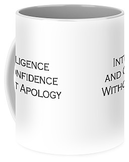 Intelligence And Confidence Coffee Mug