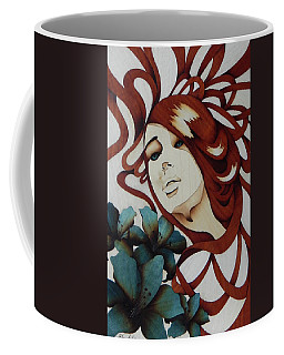 Beautiful Blue Eyes Woman Coffee Mug