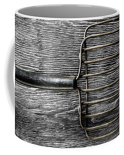 Coffee Mug featuring the photograph Tools On Wood 25 On Bw by YoPedro