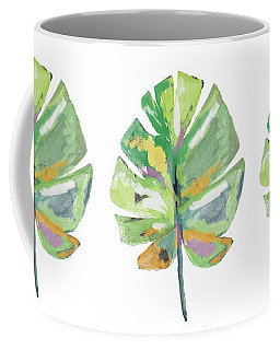 Coffee Mug featuring the mixed media Watercolor Palm Leaf- Art By Linda Woods by Linda Woods