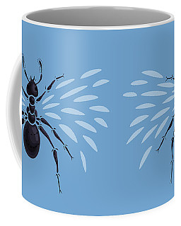 Abstract Winged Ant Coffee Mug