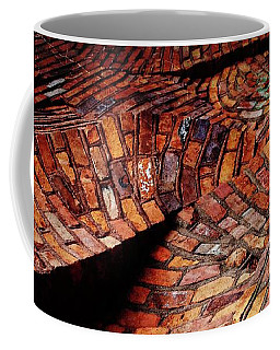 Coffee Mug featuring the photograph Peddler's Alley Wacky Wall by Shawna Rowe