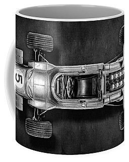 Coffee Mug featuring the photograph Schuco Matra Ford Top Bw by YoPedro