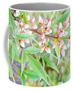 Pale Powder Pink Plant Coffee Mug