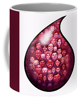 Coffee Mug featuring the digital art Drop Of Blood by Kevin Middleton