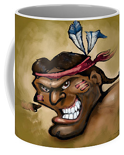 Coffee Mug featuring the digital art Injun by Kevin Middleton