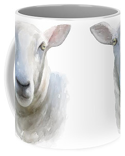 Coffee Mug featuring the painting Watercolor Sheep by Ivana Westin