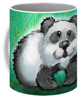 Coffee Mug featuring the digital art Panda Bear by Kevin Middleton