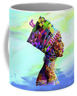 Queen Nefertiti Coffee Mug by Anthony Mwangi