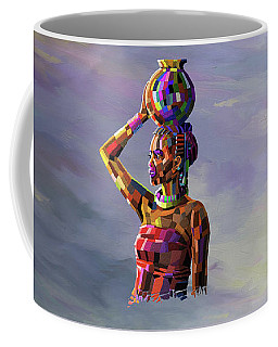 Girl Carrying Water Coffee Mug