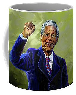 Nelson Mandela Coffee Mug by Anthony Mwangi