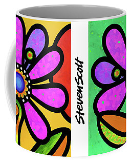 Cosmic Daisy In Pink Coffee Mug