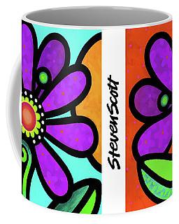 Cosmic Daisy In Purple Coffee Mug