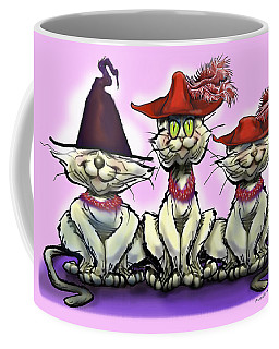Coffee Mug featuring the digital art Cats In Fun Hats by Kevin Middleton