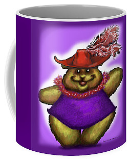 Coffee Mug featuring the digital art Bear In Red Hat by Kevin Middleton