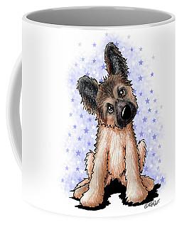 Curious Shepherd Puppy Coffee Mug