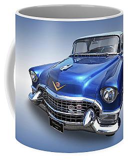 Coffee Mug featuring the photograph 1955 Cadillac Blue by Gill Billington