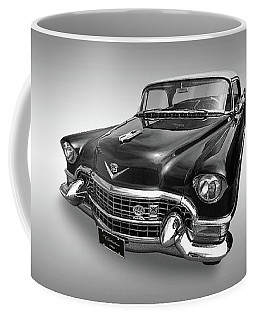 Coffee Mug featuring the photograph 1955 Cadillac Black And White by Gill Billington